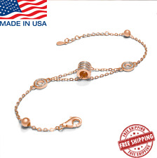 Larier High Quality Rose Gold Plated Cylindrical Charm Bracelet, B.zero1 70% OFF