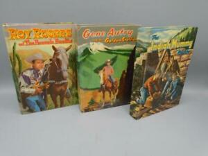 Vintage Children's Books Whitman Hard Cover Roy Rogers Gene Autry Indian Mystery