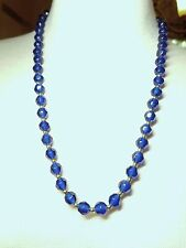 Blue 24 Inch Lucite Vintage Necklace