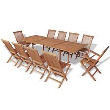 vidaXL Rectangular Dining Table and 10 Chairs Garden Furniture Set Outdoor Patio
