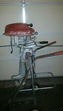 1953 Montgomery Ward Sea King 5hp Fishing Motor with Rolling Stand (VERY RARE)