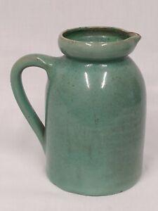 Genuine BYBEE Cornelison Kentucky Art Crafts Pottery Green Glaze Jug PITCHER