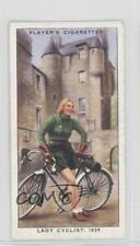 1939 Player's Cycling Tobacco Base #28 Lady Cyclist Non-Sports Card l7j