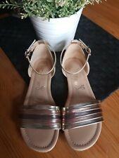 ❤ Beautiful Gold & Rose Gold Sandle Shoe Size 4 ❤