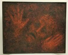 Paintings Abstract Weird Acid Trip Unique Hell Scape Scary 1969 LSD