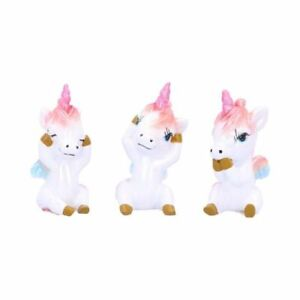 Three Wise Pegacorns 5.8cm Three Wise Pegacorns Pegasus Unicorn Ornaments