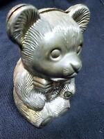 Tirelire Ours Teddy Bear en métal vintage années 80- money box