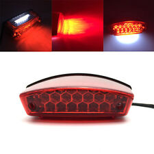 Motorcycle LED License Brake Tail Light Turn Signal For Bobber Cafe Racer ATV