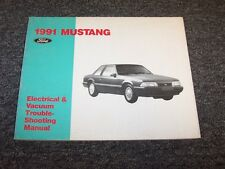 1991 Ford Mustang Electrical Wiring & Vacuum Diagram Manual GT LX 2.3L 5.0L V8