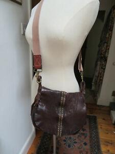 CAMPOMAGGI 4 JIGSAW studded leather cross body saddle messenger bag