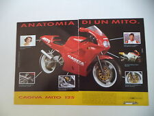 advertising Pubblicità 1991 MOTO CAGIVA MITO 125 SEVEN SPEED e EDDIE LAWSON