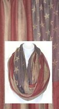 D8092. Vintage Flag Infinity Scarf (By Dozen) lot of 12