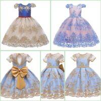 Baby Wedding Dress Formal Tutu Flower Dresses Kid Princess Bridesmaid Girl Party