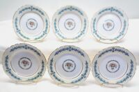 6 AYNSLEY BONE CHINA CAMBRIDGE SCALLOPED PATTERN Bread Butter Dessert Plates