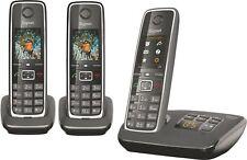 Gigaset C530A Trio Festnetz-Telefon  (analog),schnurlos,intgr. AB+2 Mobilteile