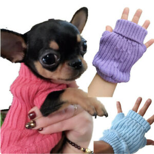 Knitted Sweater Small Dog Puppy Cat Jumper PJ's Coat for Tiny Chihuahua Shih Tzu