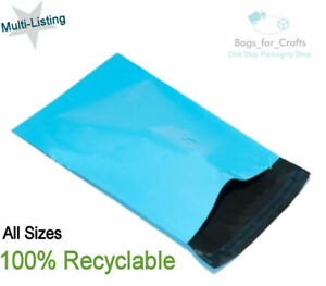 Recyclable LIGHT BLUE Mailing Postage Parcel Packing Mail Bags Multi Size & QTY