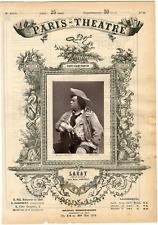Lemercier, Paris-Théâtre, Laray, acteur Vintage albumen Print Tirage albumin