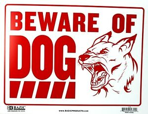 BEWARE OF DOG Security Sign 41 cm x 30 cm BAZIC Products