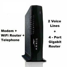 Sealed Arris TG862G WiFi Telephone EMTA Modem Wireless + 4-Port Router + Voice