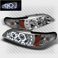 For 94-98 Ford Mustang Dual Halo LED Pro Headlights Lamp Set Head Lights Pair
