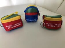 United colors of Benetton 3 Pack Keychain - New - Vintage/ Rare