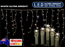8.9M 360 LED COOL WHITE ICICLE CHRISTMAS LIGHTS WITH 8 FUNCTIONS