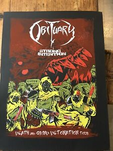 OBITUARY poster Deicide Cannibal Corpse Morbid Angel  Suffocation +FREE shirt