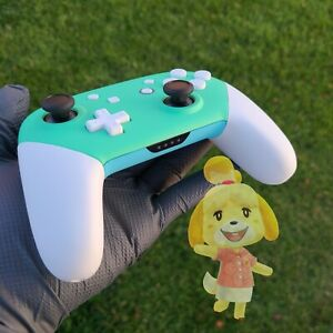 NEW Custom Nintendo Switch Animal Crossing New Horizons Pro Controller Only