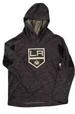 Brand New NHL Los Angeles Kings Boys Gray Dri-Fit Hoodie Sweatshirt Size S 6/7