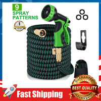 Garden Water Hose 75 Feet,9 Function Spray Hose Nozzle for Watering/Washing