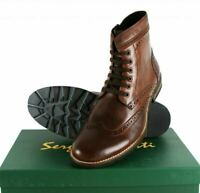 Sergio Duletti Boots Real Leather Pascal Brogues - Brown