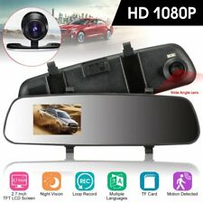 HD LCD Mirror Monitor Dash Cam Dual Lens Car DVR Reverse Rear View Camera MAX