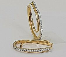 0.52carat Round Brilliant Cut Diamonds Hoop Earrings in 18K Yellow Gold