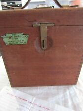 More details for vintage pigeon racing clock the automatic timing clock co ltd wooden case