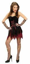 Vampiro Victoriano Disfraz De Halloween Vestido de fantasía señoras-medio