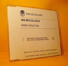MAXI Single CD Ian McCulloch Baby Hold On 2TR 2003 Alternative Rock RARE PROMO !