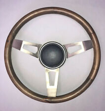 """Challenger Charger 3 spoke Tuff Wood Steering Wheel 15"""" with adapter kit"""
