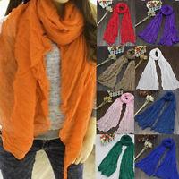 Fashion Long Voile Scarfs Winter Warm Scarf Women Scarf Shawl Blue