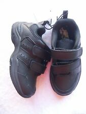 BNWT Junior Boy's Black Leather Sneakers Size 11