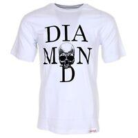 Diamond Supply Co Mens Skate T-shirt White & Black Skull Size Small
