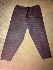 Vintage 80s 90s Purple Striped Skidz Drawstring Pants Skateboard Baggy Rare