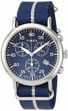 Timex TW2T73800, Men's XL Weekender Blue Nylon Watch, Indiglo, Chronograph