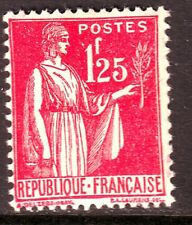 """FRANCE TIMBRE N° Y&T 370 """" Type PAIX 1f25 rose """" NEUF** port maxi 1 euro"""