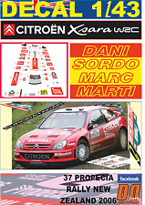 DECAL 1/43 CITROEN XSARA WRC DANI SORDO R.NEW ZEALAND 2006 5th (01)