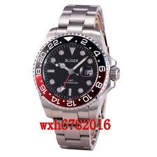 43mm Bliger GMT sapphire glass Luminous Hands Mechanical automatic Watch 058