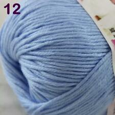 Sale New 1Ball x 50g Cashmere Silk Wool Hand Knit Wrap Shawls Crochet Yarn 12