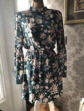 H&M FLORAL PRINT DRESS SIZE EURO 38 / UK 10