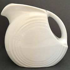 Fiestaware Disk Pitcher, White, 28 oz. capacity
