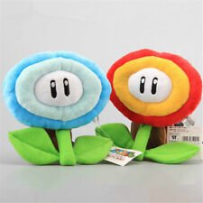 2PCS Super Mario Bros Fire Flower and Ice Flowe Plush Doll Stuffed Toy Kids Gift